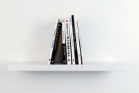 <em> Ocho libros (Te quiero)</em>, 2010-2011<br> Eight Spanish books, mdf bookshelf, 50 × 17.5 ×23.5 cm/19.7 × 6.9 × 9.3 inches